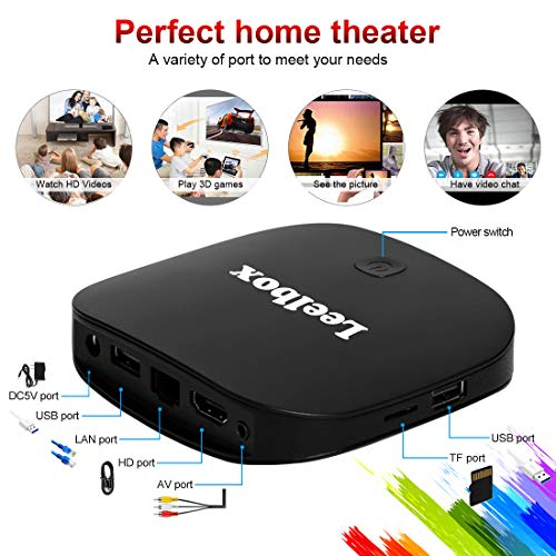 TV BOX Android 8.1 - Leelbox Q2 PRO S Smart TV Box Quad Core, 2 GB di RAM e 16 GB di ROM Set-top box Android