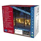Konstsmide 4652-107 LED Hightech System Erweiterung/Lichtervorhang Eiszapfen/für Außen (IP44) / VDE geprüft / 50 warm weiße Dioden/schwarzes Softkabel