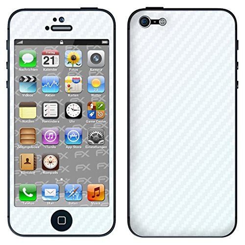 "Skin Apple iPhone 5 ""FX-Camouflage-Black"" Sticker Autocollant FX-Carbon-Bicolor-Pearl"