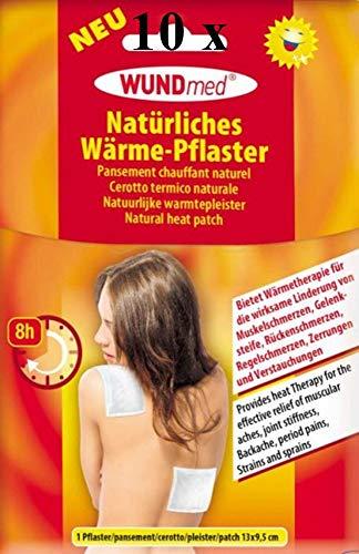 10x WUNDmed natürliches Wärmepflaster Wärme-Pflaster Wärmetherapie Schmerzpflaster Pflaster 8h