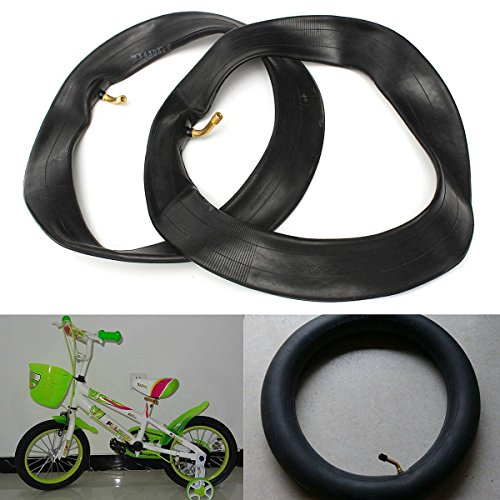OUTERDO 2 pcs Inner Tube British Mouth Bent Valve 12 pouces Pour Pram Poussette Enfants Bike