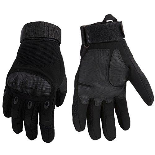 Army Herren-leder (Graceme Motorradhandschuhe Schwarz Sporthandschuhe Herren Militär Handschuhe airsoft handschuhe Winter out door Sport (M))