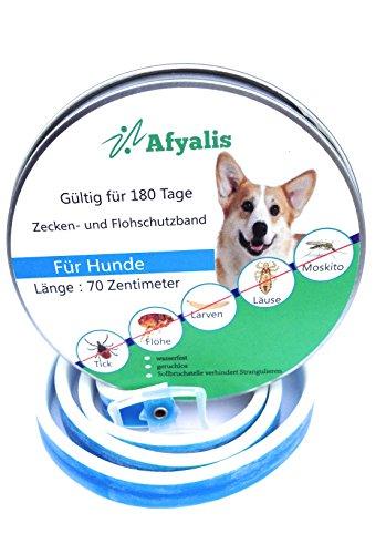 Zeckenhalsband für Hunde, Flohhalsband und Ungezieferhalsband für Hund,Zeckenschutz mit Schwarzkümmelöl,Wasserbeständiges Ungezieferhalsband, Hundepflege mit 6 Monate Schutz 70cm (8+kg)