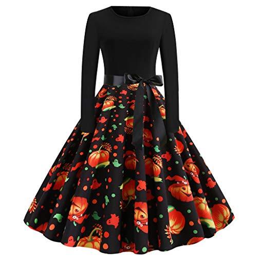 Hausgemachte 50er Jahre Kostüm - Sillor Retro Midi Kleid Damen
