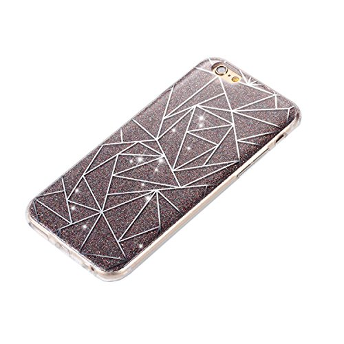 iPhone SE Hülle,iPhone 5S Hülle,iPhone SE 5S Silikon Hülle [Kratzfeste, Scratch-Resistant], Saincat iPhone SE/5S Hülle TPU Case Schutzhülle Silikon Crystal Kirstall Clear Case Durchsichtig,Beautiful R Glitter Plating-Grau