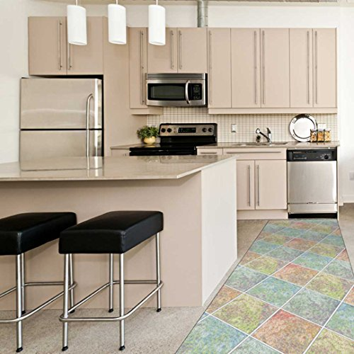 Catral 40020023Teppiche Küche und Flur Böden, mehrfarbig, 2500x 67x 0.5cm