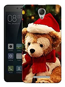 "Humor Gang Christmas Teddy Bear Printed Designer Mobile Back Cover For ""Xiaomi Redmi 3S"" (3D, Matte Finish, Premium Quality, Protective Snap On Slim Hard Phone Case, Multi Color)"