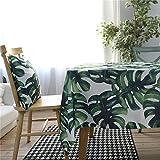 DHHY Imperméable Jardin Vert Polyester Coton Nappe Salon Carré Table Basse...