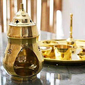 Nexplora Industries Pvt. Ltd. Brass Aroma Incense Camphor Oil Burner/Diya Lamp/Deepak