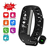 Waterproof Fitness Activity Tracker Heart Rate Monitor Sleep Blood Pressure Oxygen Monitor Pedometer