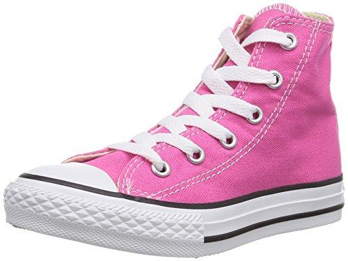 Converse Unisex - Bimbi 0-24 Chuck Taylor All Star Hi scarpe sportive rosa Size: 35