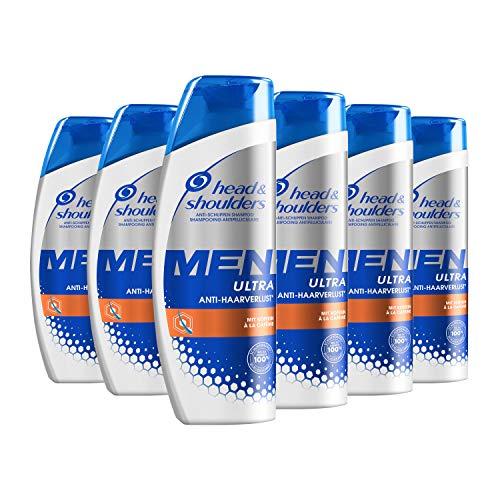 Head & Shoulders Men Ultra Anti-Haarverlust Shampoo, 6er Pack (6 x 250 ml)