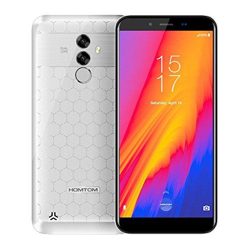 HOMTOM  S99 Smartphone Gesichts-ID 6200mAh 4 GB 64 GB 5.5 Pulgadas Sin Bisel 18: 9 Ocho Nucleos 21MP Cámaras Duales...