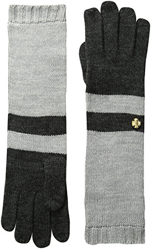 Anne Klein New York AK Anne Klein Women's Colorblock Long Glove, Dark Grey/Light Grey, One Size