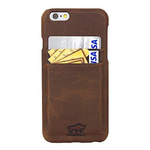 Solo Pelle iPhone 6 Plus / 6S Plus Carcasa Funda de cuero funda de cuero Tapa trasera Slimfit - Vintage Marrón, Iphone 6 Plus / 6S Plus (5.5 pulgadas) - Extrafina incl. 2 Superficie para tarjetas - Precisas para iPhone 6 Plus / 6S plus - Explícitamen...