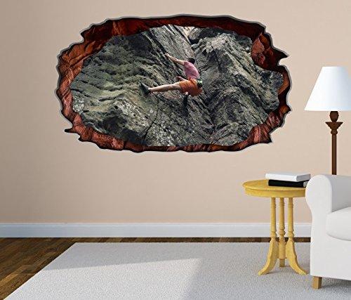 3D Wandtattoo Freeclimbing Felsen Klettern Extrem selbstklebend Wandbild Tattoo Wohnzimmer Wand Aufkleber 11M190, Wandbild Größe F:ca. 162cmx97cm