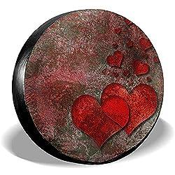 Dem Boswell Hard Rock Valentine Reserveradabdeckung Wasserdicht Staubdicht Universal Reserveradabdeckung 14 Zoll