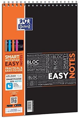 Oxford Etudiant Bloc-notes connecté SOS Notes 160 pages 210 x 315 Coloris Aléatoire