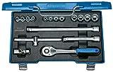 GEDORE D 30 GAU-10 Steckschlüssel-Satz 3/8' 17-TLG UD 1/4-3/4', teilig, Zoll D