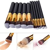 Best Cosmetics Sets - Vander Makeup Brushes Wooden Handle 10 PCS Make Review