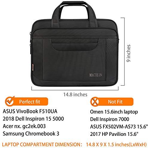Borsa per laptop, valigetta multifunzionale da 15.6 pollici, borsa per laptop spaziosa per donne e uomini, resistente tracolla universale in nylon per tablet / taccuino-nero grigio