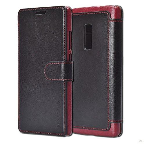 Mulbess Handyhülle für OnePlus 2 Hülle Leder, Layered Dandy Leder Flip Tasche für OnePlus 2 SchutzTasche Cover Etui, Schwarz