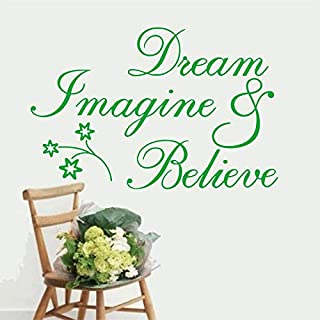 Witkey Dreams and Believe Inspirational Wall Decal Stickers Quotes Proverbs and Words Home Decor Vinyl Mural Art Deco SZ-005