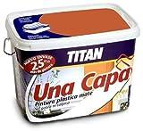 Titan M125539 - Pintura plastica monocapa mate 2.5 l rojo teja