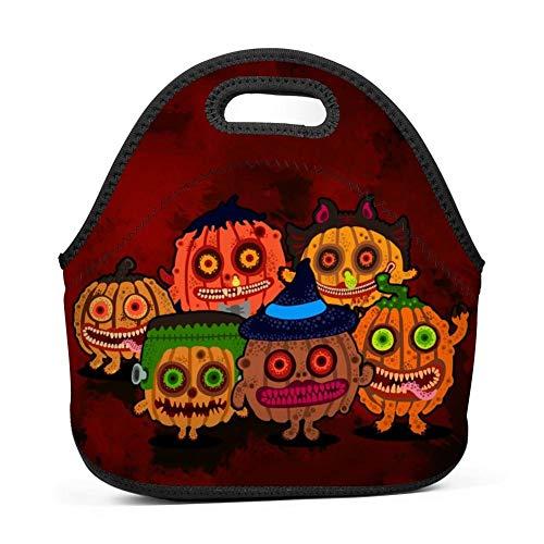 atopking Halloween-Kürbis-Geist Wasserdichte Mittagessen-Taschen-Beutel-tragbare Picknick-Kasten-Nahrungsmittelbehälter
