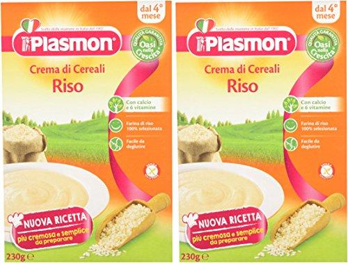 Plasmon, Crema di Riso - 2 confezioni da 230 gr - Totale: 460 gr