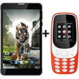 IKALL Combo of N5 7-inch, 2GB, 8GB, Wi-Fi and 3G Tablet with K3310 Dual Sim Mobile Phone(N5(Black)+K3310(Red))