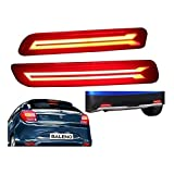 #10: PR Car Reflector Led Brake Light for Bumper(Rear/ Back) Drl for Maruti Suzuki Baleno New- Set of 2 Pcs with wiring (For Maruti Suzuki Baleno/Breeza/Ciaz/Ertiga/New Swift Dzire/Scross/Ritz/SX4)
