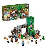 LEGO Minecraft - La Mina de Creeper, Juguete de construcción de Refugio del Herrero, set inspirado en el videojuego, novedad 2019 (21155)