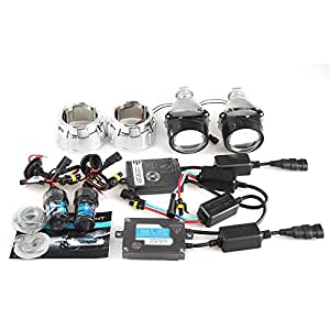 HID Color Temperature 4300K : CAR ROVER 2. 5 H1 Bixenon Projector Lens with Shroud and 1 set 55W HID Xenon Full Kit 8000K