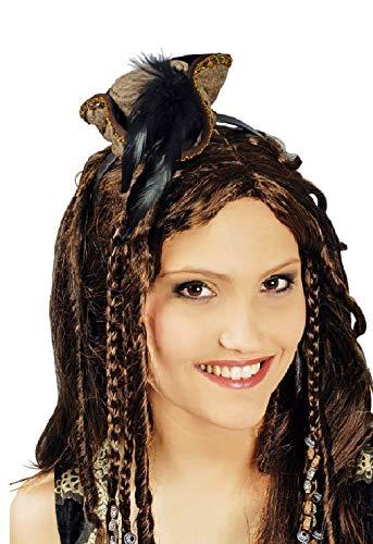 narrenkiste K10157735 braun Damen Mini Barock Dreispitz Piraten - Piraten Kostüm Mini Hut