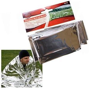 51U9LrgzFIL. SS300  - Emergency Silver Foil / Survival Blanket. Ideal For Cars, Caravans