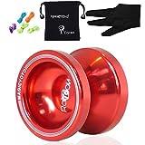 Magicyoyo Yostyle T6 Arco iris de aluminio profesional yoyos Yoyo bola + Guantes + 5 Cuerdas, regalos del juguete muchacha de los niños del muchacho (Rojo)