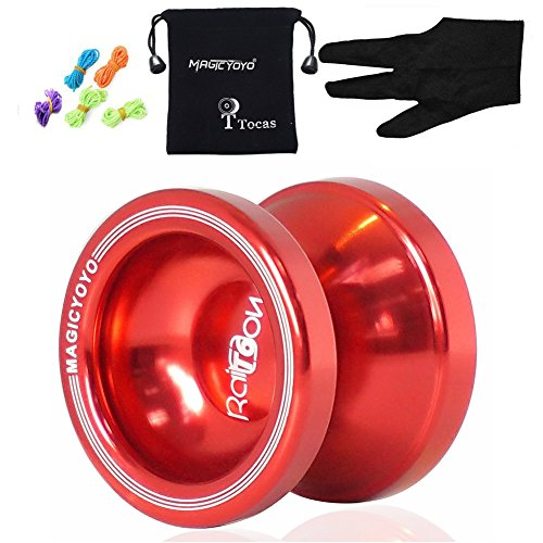 Preisvergleich Produktbild MAGICYOYO T6 Schatten-Fachmann Yo-Yos Balls + 5 Strings + Handschuh, Rot
