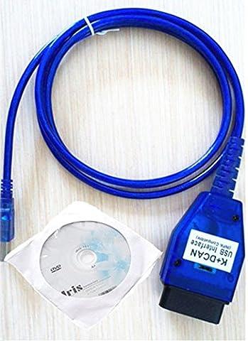 Shine BMW K+DCAN USB Modified-1998 to 2017 E38 E46 E50 E53 E60 E61 E63 E64 E83 E90 E91 etc.USB OBD II DiagnositicCable, with Switch Interface INPA K+DCAN ISTA ISID GT1