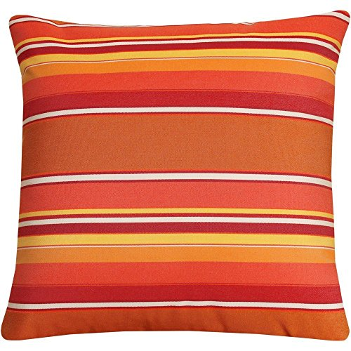 Gary S.Shop Red, Yellow and White Hues Home Decor Pillow Case 18 x 18 Inch
