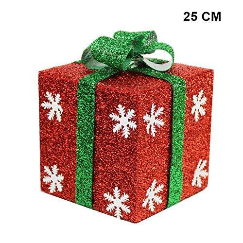 Symboat Kiste Verzierungen Schneeflocke Glitzer Geschenk Boxen Yards Wohndeko - 25cm -