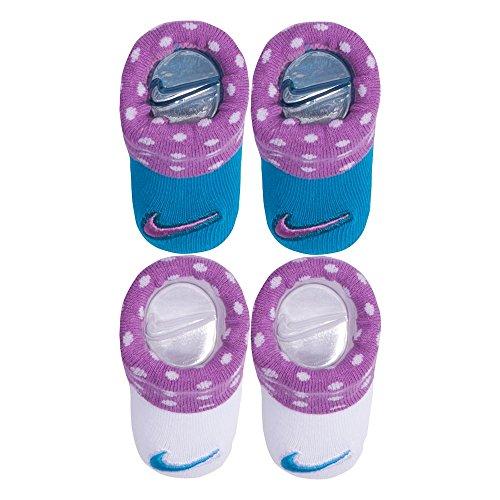 Nike Baby Swoosh 2Pack Baby Beute für Jungen und Mädchen (0-6m) Gr. Gr. 50-68, Rush Fuchsia (An0046-p3r) / White (Neugeborene Baby-kleidung Nike)