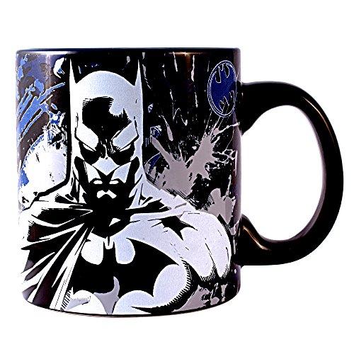 DC Universe Batman Splatter 20 oz Glow in The Dark Jumbo Ceramic Mug Standard (Jumbo Mug Ceramic)