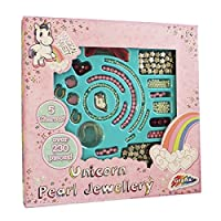 Unicorn Jewellery Design Set Girls Make Create Your Own Pearl Bead Necklace Kit