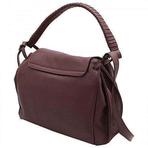 Abro Adria Fold Over Flap Handbag Burgandy