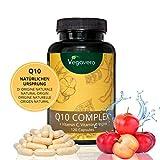 Coenzima Q10 + Vitaminas C + E + Zinc | COMBINACIÓN ÚNICA | SIN ADITIVOS | Colesterol + Energía y Rendimiento + Antioxidante + Defensas | 120 Cápsulas | Vegano | Q10 Complex Vegavero