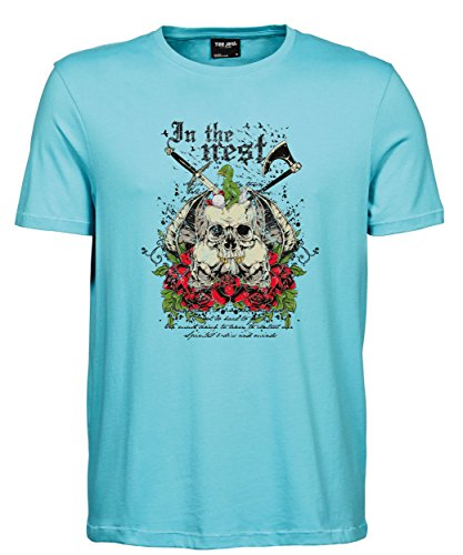 makato Herren T-Shirt Luxury Tee The Nest Aqua