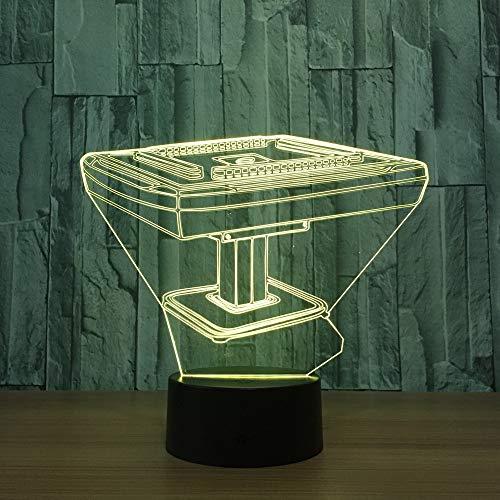 Mahjong tavolo notturno sostituzione sostituzione lampada colore interruttore tattile decorativo lampada da comodino giocattolo lam