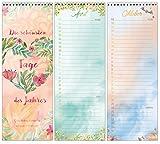 Geburtstagskalender mit Spiralbindung/jahresunabhängig / Dauerkalender/in liebevollem Design für alle wichtigen Tage und wiederkehrende Termine - Von Sophies Kartenwelt