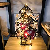 Natale Luci per LED Rovinci Lampada a Sospensione con Cordicella in Rattan Fai da te Natale Decorazione Della Parete Della Porta Stella di Natale, Decorazioni Natalizie, Stella Cometa Luminosa